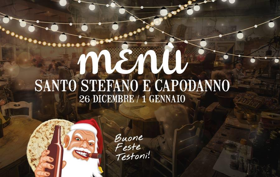I menu di Santo Stefano e Capodanno
